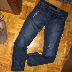 Aeropostale skinny distressed jeans 6 short